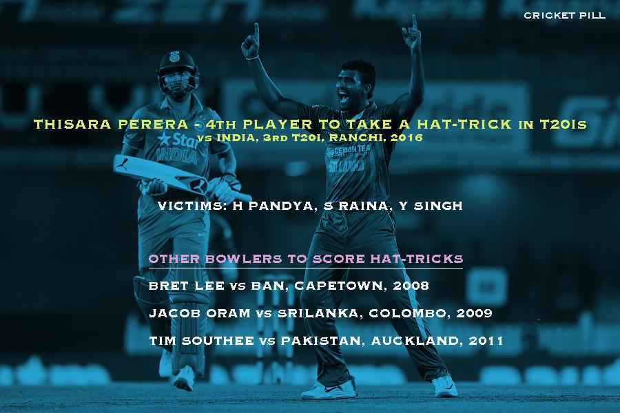 Thisara Perera hat-trick in T20I