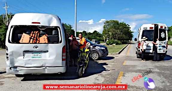 'Carambola' en la entrada de Playa del Carmen dejó 1 lesionado y 1 detenido