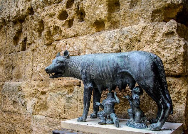 Loba Romana no Fórum de Tarragona, Catalunha
