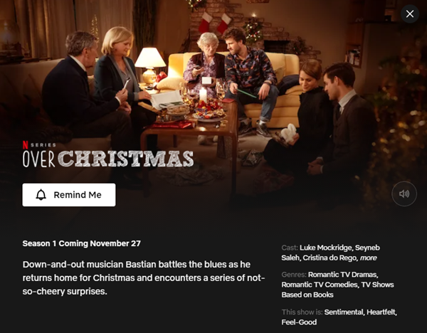 Over Christmas - Season 1 | 27 November 2020