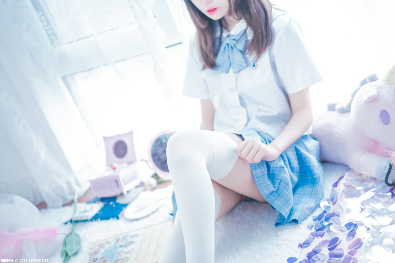 Image [MTCos] 喵糖映画 Vol.019 – Chinese Cute Model – Blue White Fantasy Girl - TruePic.net - Picture-4