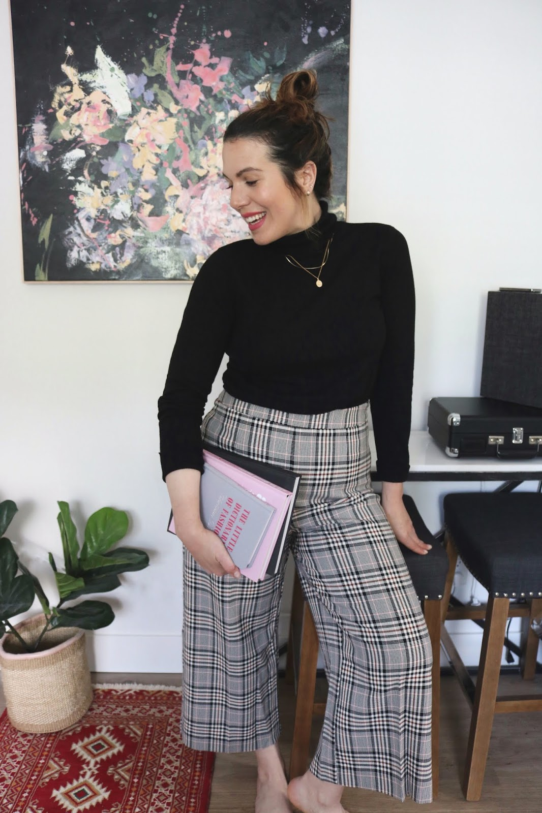 le chateau plaid culottes outfit made in canada vancouver blogger