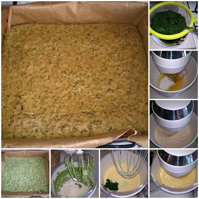 zielony biszkopt szpinakowy