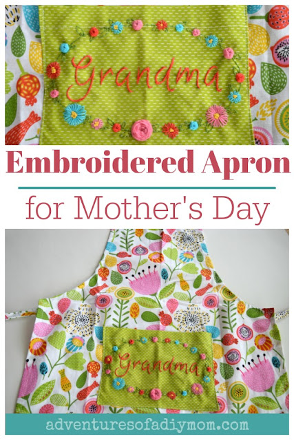 Embroidered Apron for Mother's Day