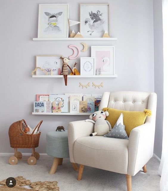 Pretty Little White Shelves For Your Baby Nursery Life