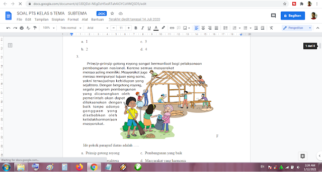 Soal PTS Kelas 5 Tema 3 Subtema 1-2 Kurikulum 2013 Revisi Terbaru