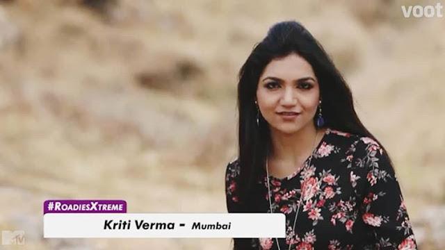Kriti in Roadies Xtreme 2018