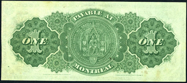 Dominion of Canada One Dollar Banknote 1878 Queen Victoria's Great Seal of Canada