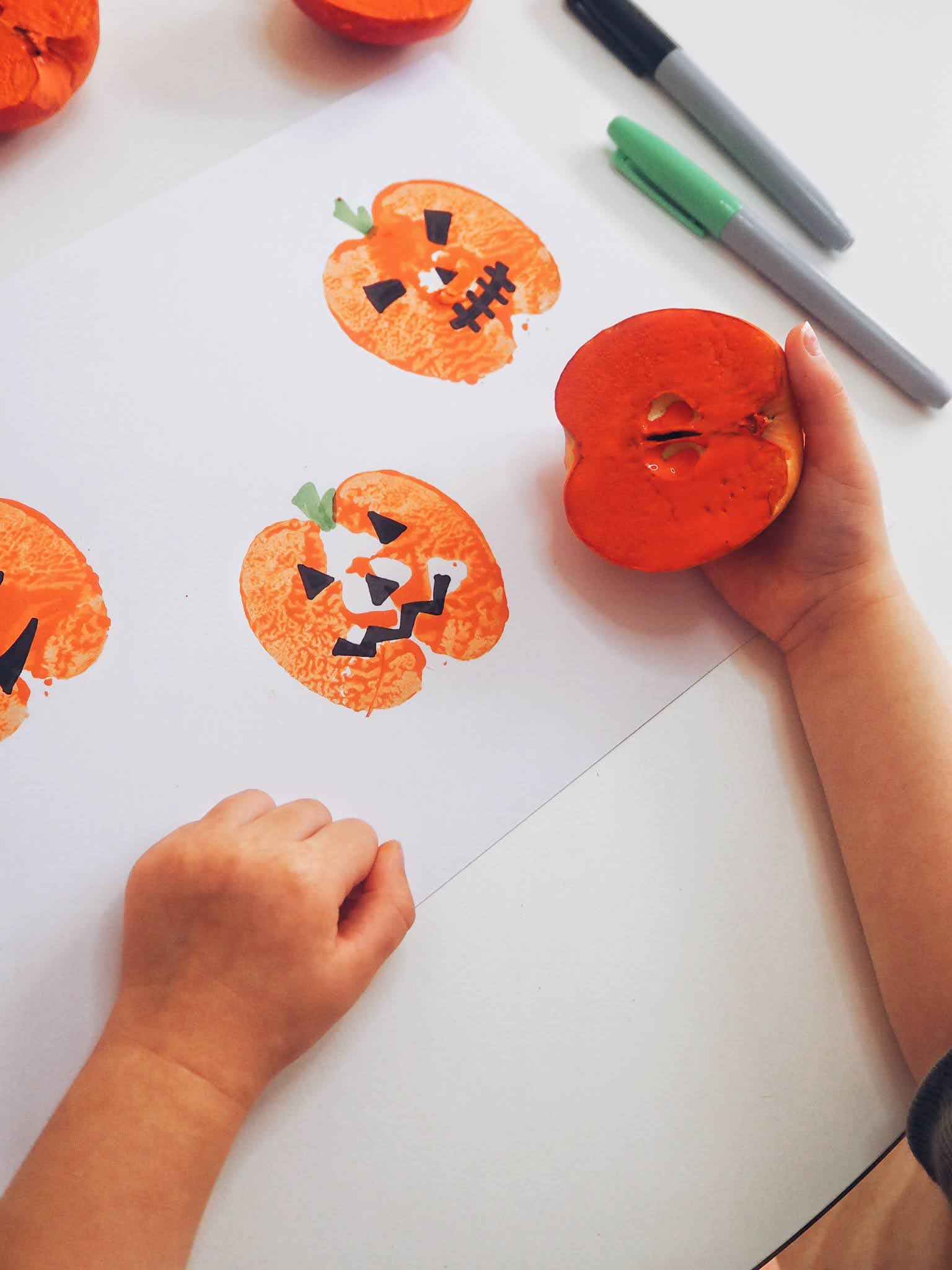 Apple pumpkin prints
