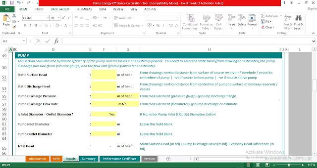 Download Pump-Efficiency-Calculation-Excel-Spreadsheets