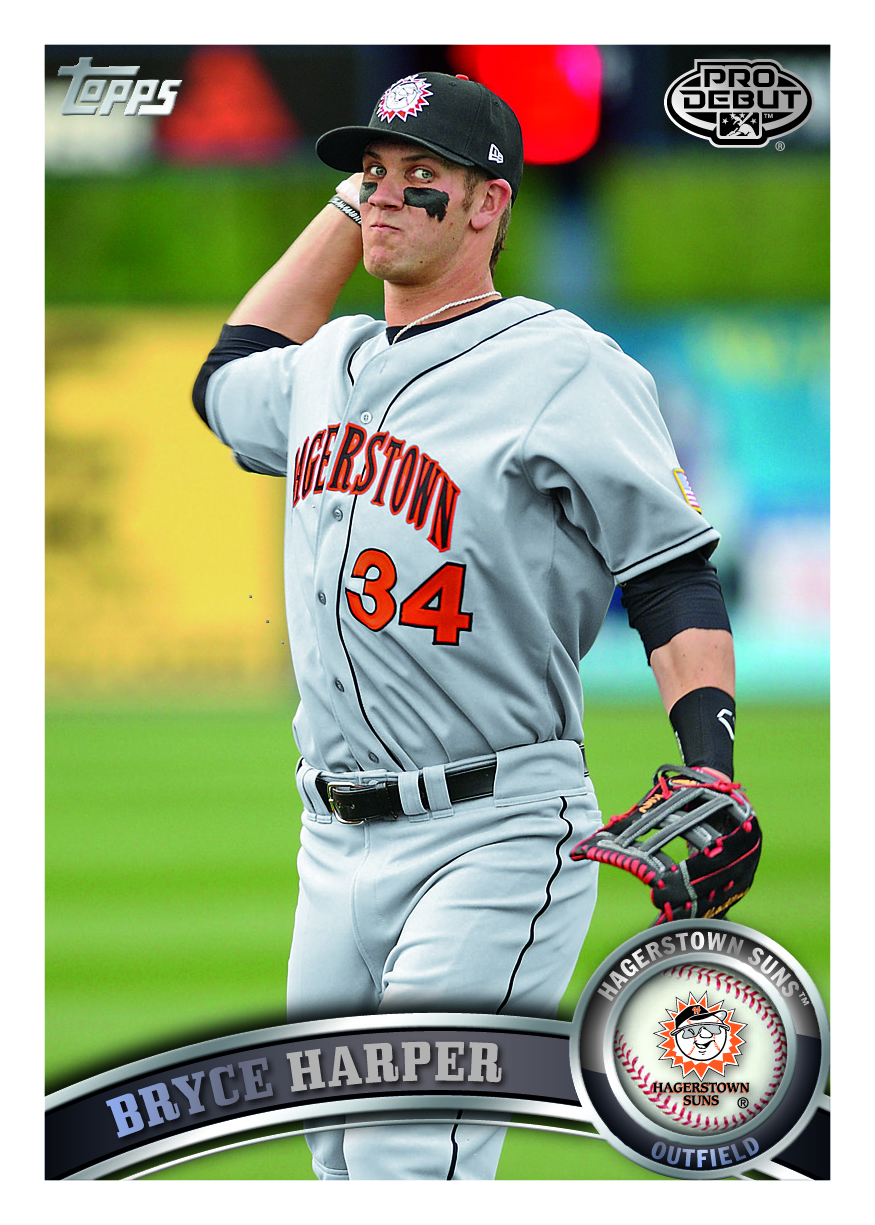 All About Sports Cards Bryce Harper Appears On His First