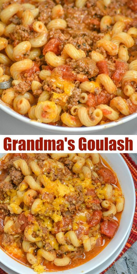 GRANDMA'S AMERICAN GOULASH #recipes #dinner ideas #dinnerideasfortonight #food #foodporn #healthy #yummy #instafood #foodie #delicious #dinner #breakfast #dessert #lunch #vegan #cake #eatclean #homemade #diet #healthyfood #cleaneating #foodstagram