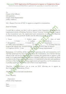 application for permission to appear in the competitive examination