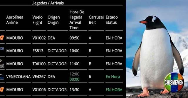 Con la frase MADURO DICTADOR hackearon las pantallas del Aeropuerto de Maiquetía