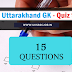 Uttarakhand GK Hindi - Quiz 9