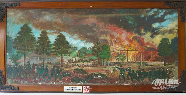 Lukisan di museum/monumen Diponegoro