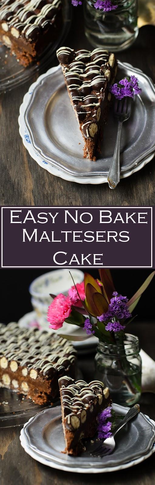 dark chocolate maltesers Cake