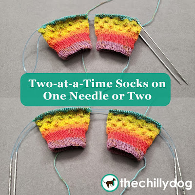 Knitting Video Tutorial: Learn how to knit Two at a Time (2aaT) socks on either one circular needle, with the magic loop method, or on two circular needles.