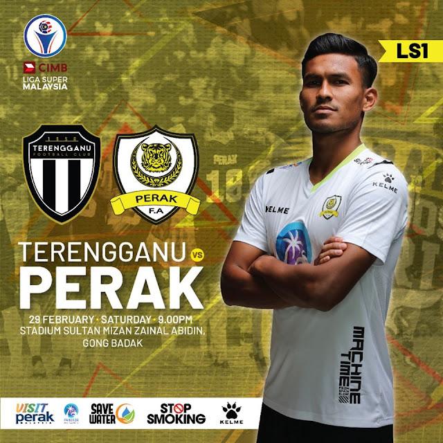 Live Streaming Terengganu vs Perak Liga Super 29.2.2020