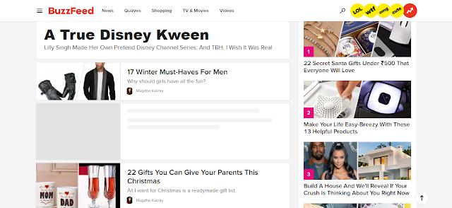BuzzFeed  - fun website