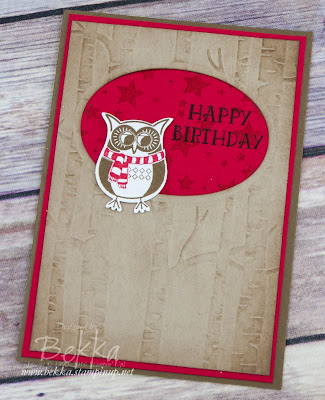 Woodland Owl Cozy Critters Birthday Card made with Stampin' Up! UK Supplies