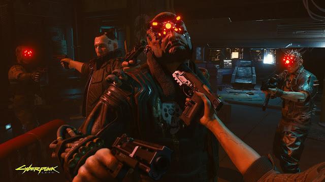 Cyberpunk 2077 mengeluarkan screenshot dengan menampilkan perspektif FPS.