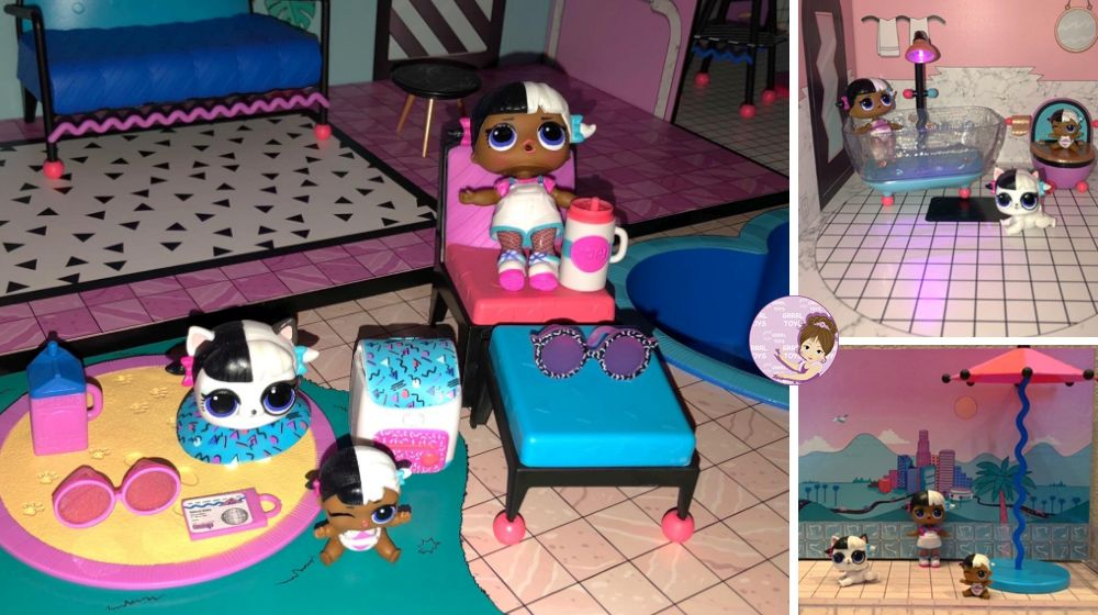 2018 L.O.L. Surprise dollhouse Next Door toys Baby, Lil Baby, Puppy