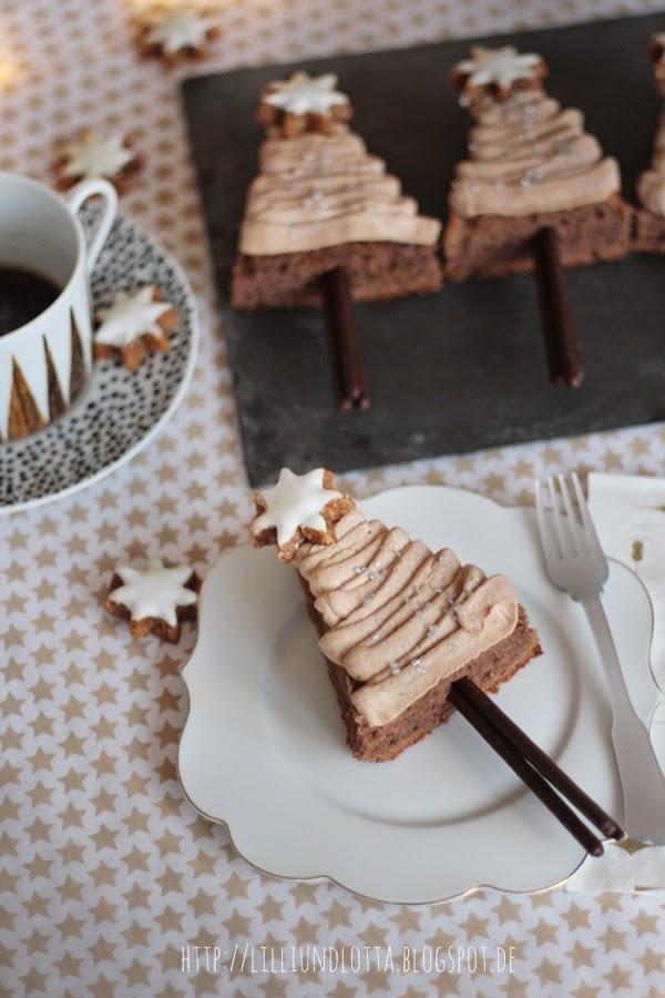 Lilli und lotta schoko kaffee tannenb umchen for Pinterest basteln weihnachten