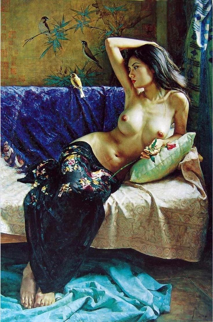 As mais belas pinturas de Guan Zeju ~ Pintor chinês