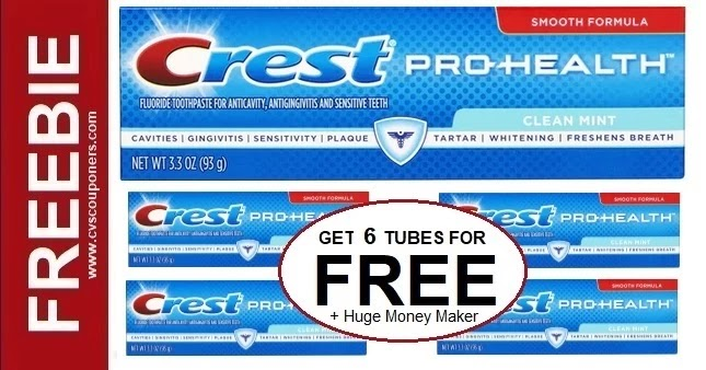 Get 6 Crest Toothpaste for FREE at CVS 9/5-9/11