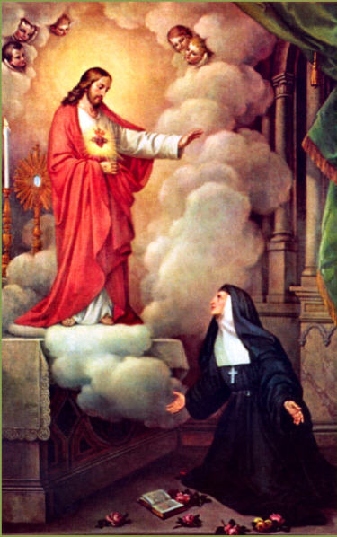 OCTOBER 16 - SAINT MARGARET MARY ALACOQUE, VIRGIN (1647-1690)