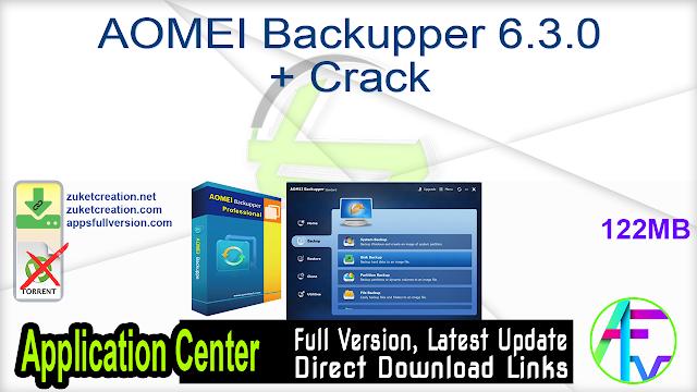 AOMEI Backupper 6.3.0 + Crack