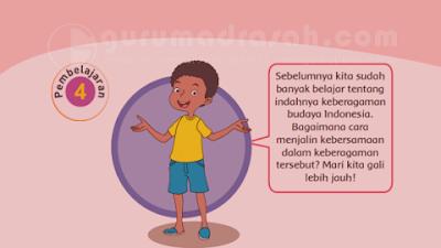 Kunci Jawaban Tema 1 Kelas 4 SD Subtema 2 Hal 111, 112 dan 113 : Kebersamaan dalam Keberagaman