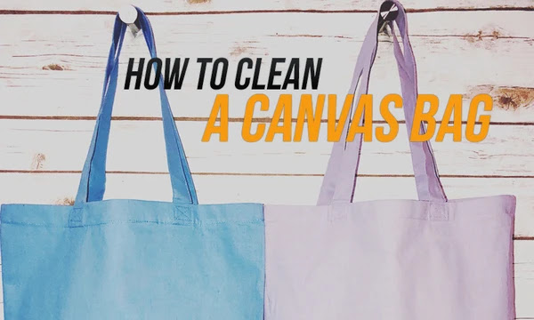 how to clean canvas bag with leather