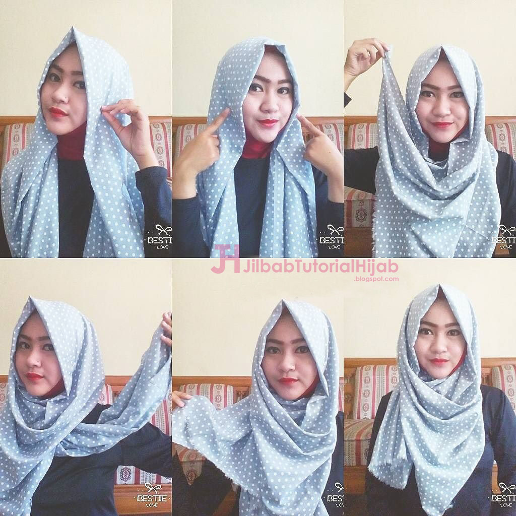 6 Tutorial Style Hijab Pashmina Simple Jilbab Tutorial Hijab
