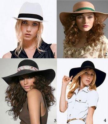 Os chapéus estão muito na moda !!! Aquele tipo de chapéu bem grande !!!!  Esse mesmo  ee5eed42bc9