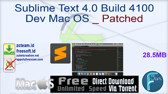Sublime Text 4.0 Build 4100 Dev Mac OS _ Patched