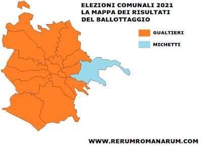 Ballottaggio Roma 2021 mappa