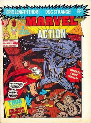 Marvel Action #4, Thor vs the Grey Gargoyle