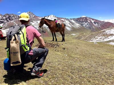 Lucas, durante su viaje solidario a Perú