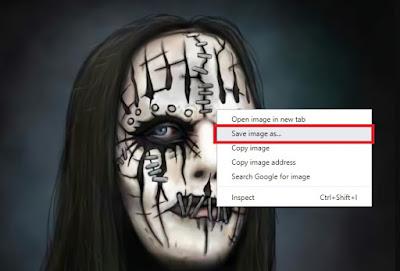 Untuk menyimpannya, Sobat klik kanan dan pilih Save Image As.