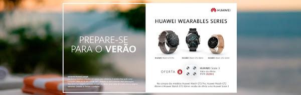 Este Verão compre um Huawei Watch GT2 e receba uma balança inteligente
