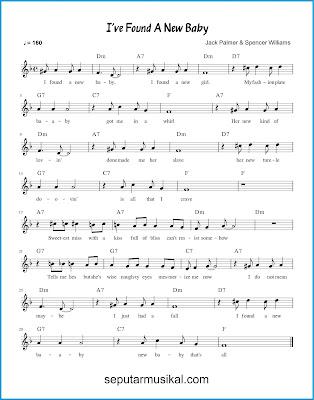 I've Found a New Baby chords jazz standar