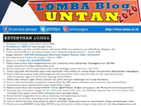 Lomba Menulis Blog Nasional 2020 di Untan, Gratis