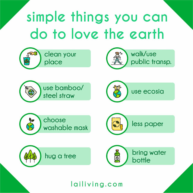 love the earth infographic lailiving