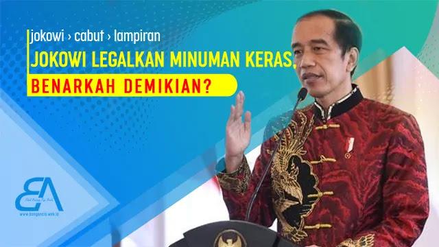 enarkah Jokowi Melegalkan Peredaran Miras?