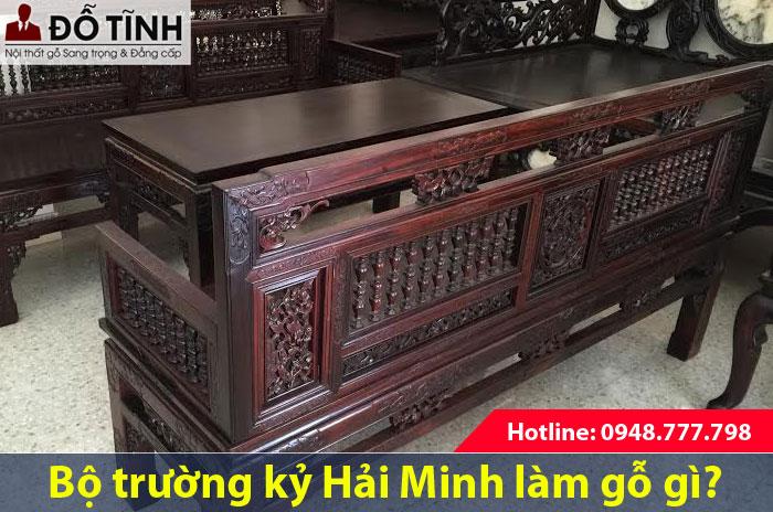 Bàn ghế trường kỷ cổ tại Nam Định làm bằng gỗ gì?