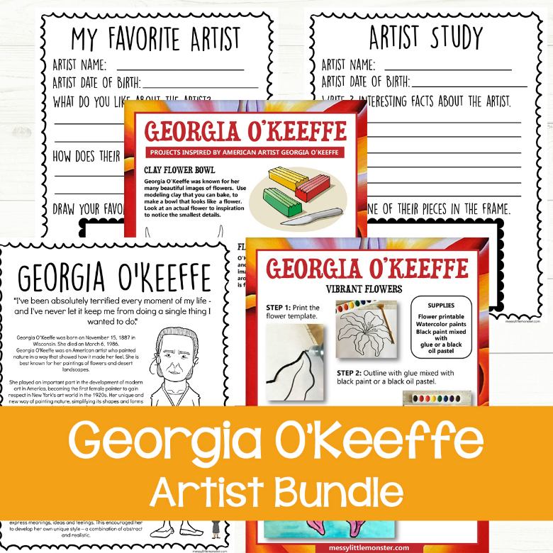 Georgia O Keeffe facts and art for kids