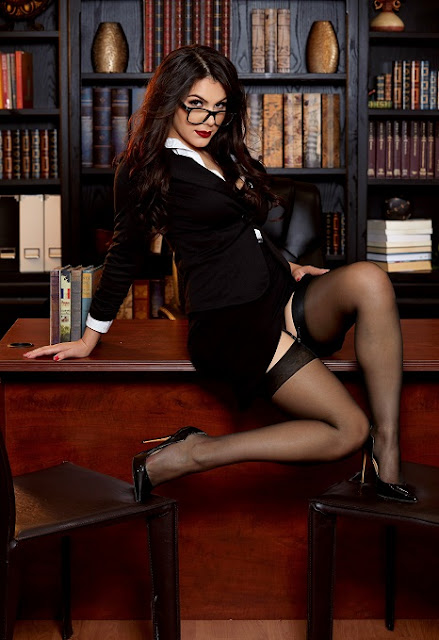 Valentina Nappi office striptease picture gallery