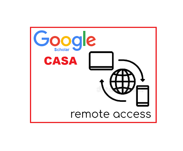 Google Scholar's feature CASA  for off campus users